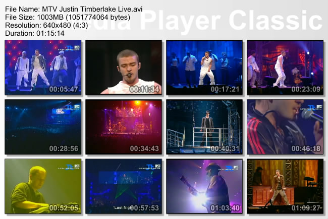 MTV Justin Timberlake Live, London Docklands Arena